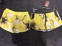 Короткие Шорты женские/на девочку (L-46) Желтые Принт