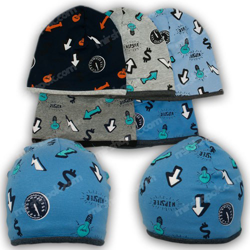 шапочка для мальчика трикотаж