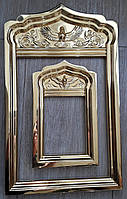 Золочение сусальным золотом деревянных рам., фото 1