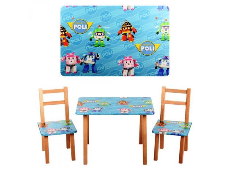 Деревянный столик со стульчиками M 2754