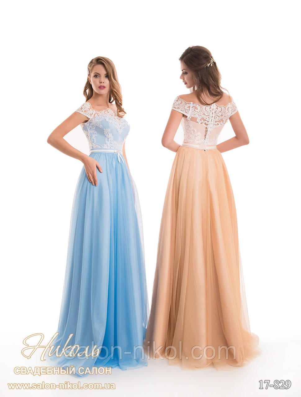 Вечернее, выпускное платье 17-829