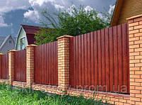 Строительство заборов из профнастила, штакетника, блок-хауса, элементы художественной ковки, фото 4