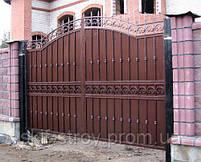 Строительство заборов из профнастила, штакетника, блок-хауса, элементы художественной ковки, фото 2