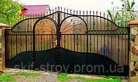 Строительство заборов из профнастила, штакетника, блок-хауса, элементы художественной ковки, фото 10
