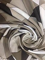 Женский палантин  кашемировый с бахромой в серых тонах, фото 1