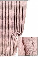 Ткань портьерная Крамплед бледно-розовый