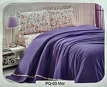"""Летний набор постельного белья в комплекте с ПИКЕ First Choice """"Soft Pike Takimi Mor"""""""