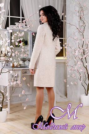 Женское бежевое пальто весна-осень (р. 44-54) арт. 1108 Тон 87, фото 2