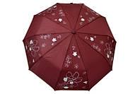Крепкий женский зонт в модный принт