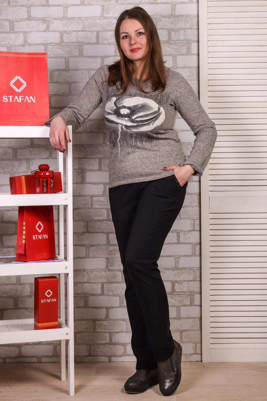 Женские лосины со стразиками на карманах Jujube B021-5 4XL-6XL. Размер