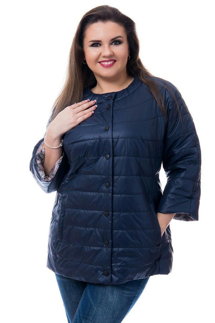 Куртка женская, модель 203 батал, цвет - темно синий