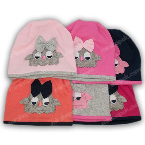 шапки для девочек трикотаж