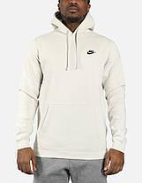 Толстовка Nike Club Swoosh Pullover Hoodie 804346-072 (Оригинал) , фото 3