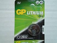 Батарейка брелка, пульта автосигнализации GP CR2032