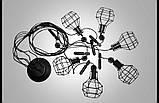 Люстра паук лофт с гирьками и плафонами  9076/6 , фото 2