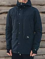 Мужская темно-синяя демисезонная парка Staff tvist dark navy LBL0010
