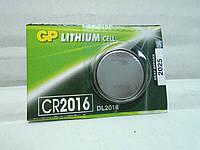 Батарейка брелка, пульта автосигнализации GP CR2016