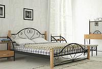 Кровать Джоконда из металла на деревянных ножках полуторная