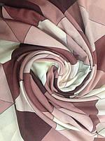 Палантин  кашемировый с бахромой абстрактный рисунок, фото 1