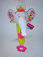 Мягкая игрушка с пищалкой Слоник
