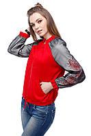 Женский бомпер красного цвета, фото 1