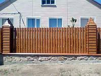 Забор из профнастила, евроштакетника, сруба металлического, фото 6