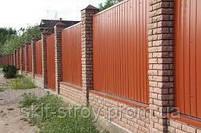 Забор из профнастила, евроштакетника, сруба металлического, фото 10