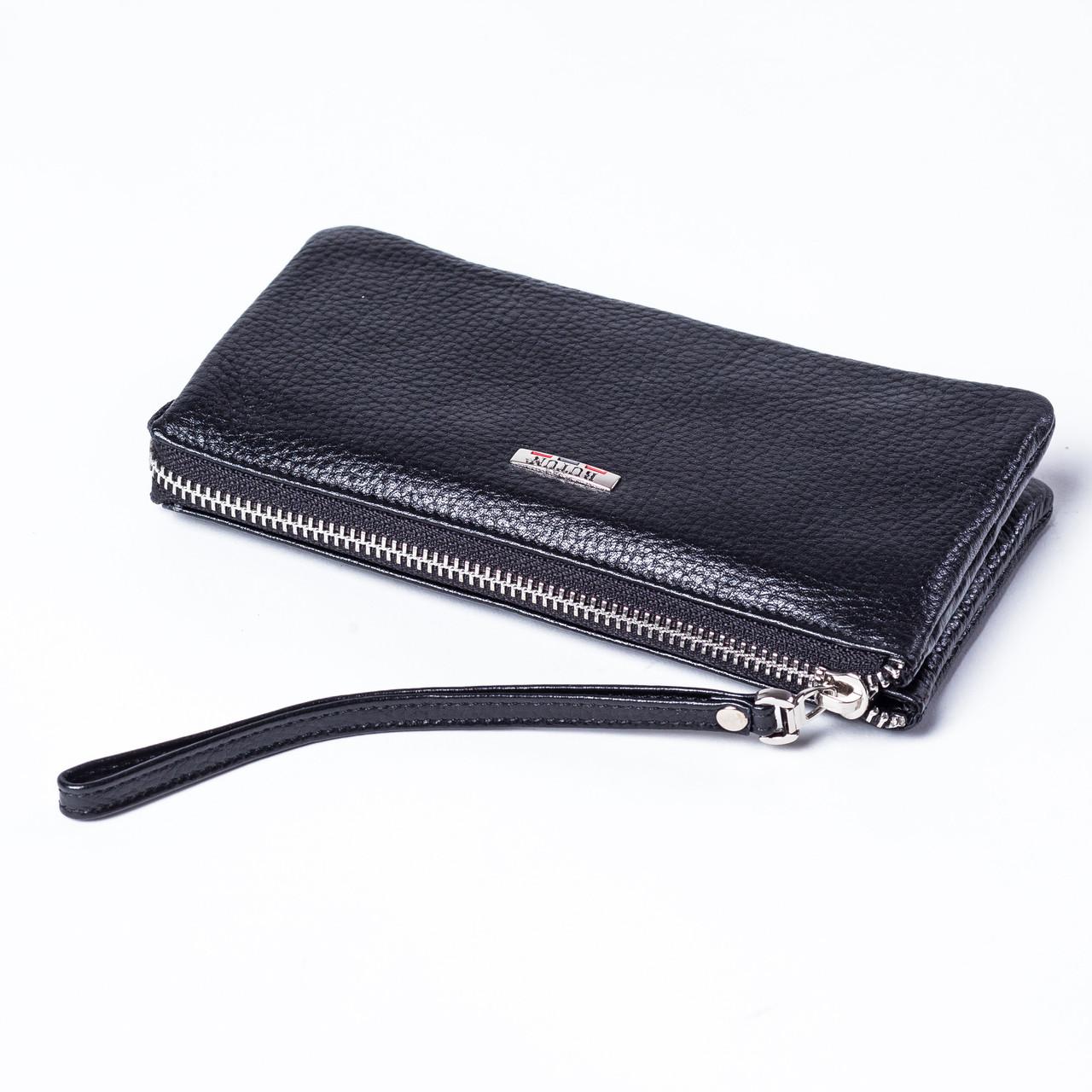 Женский клатч кожаный черный Butun 662-004-001