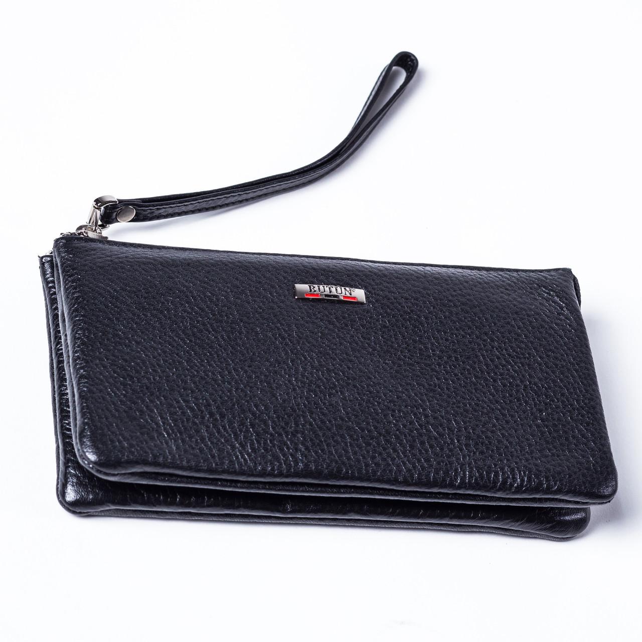 Женский кошелек Butun 662-004-001 кожаный черный