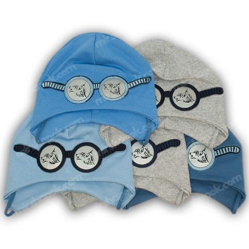 детские трикотажные шапочки с завязками