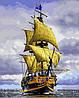 VP888. Набор-раскраска по номерам Пиратский корабль