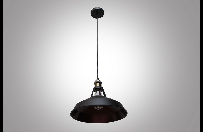 Стильный подвесной светильник лофт 6857/310 BK+R