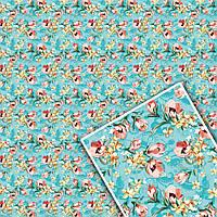Мелованная  бумага для упаковки цветов и подарков 0529