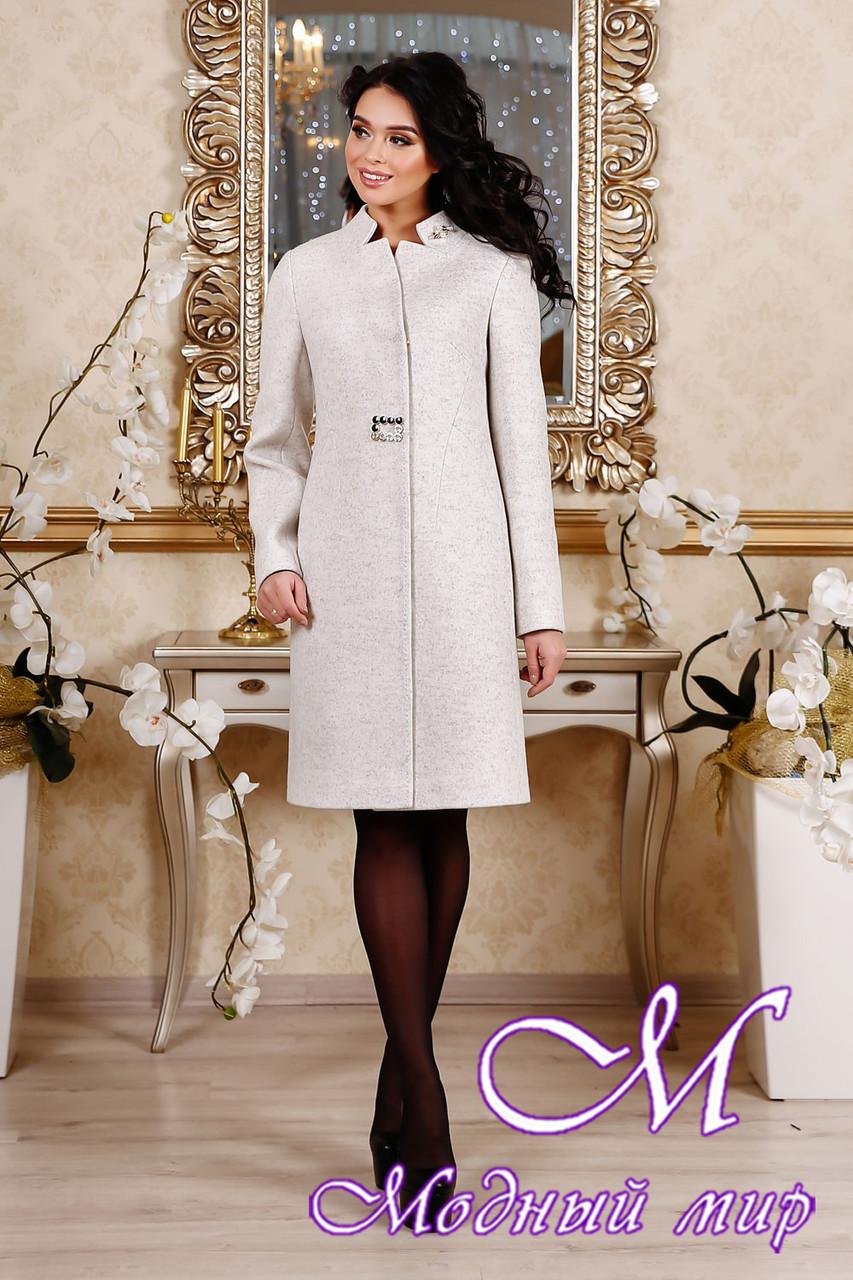 Женское элегантное весеннее пальто (р. 44-54) арт. 1112 Тон 10