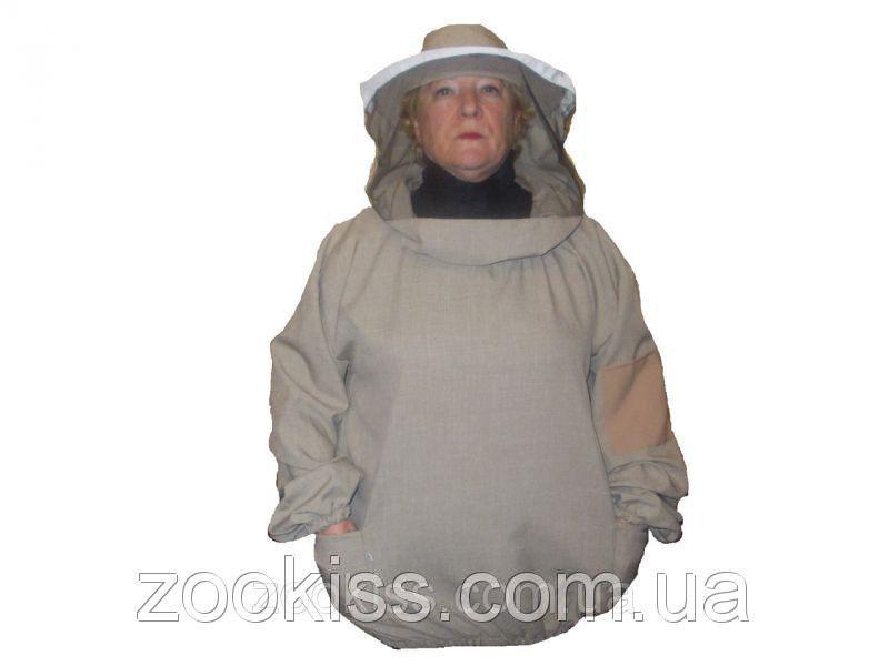 Куртка лен с круглой и евро маской