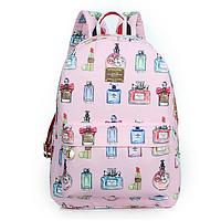 Модный школьный рюкзак с духами розовый