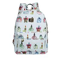Модный школьный рюкзак с духами белый