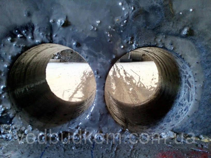 Алмазне буріння свердління отворів на стояки в монолітних перекриттях