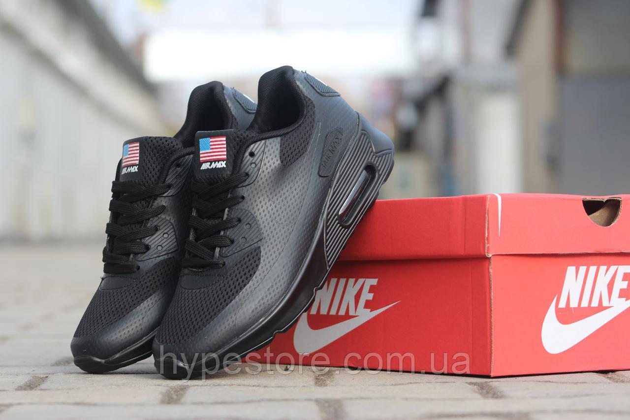 Женские кроссовки Nike Air Max 90 U.S.A (черный), Реплика  продажа ... 6871afeb951