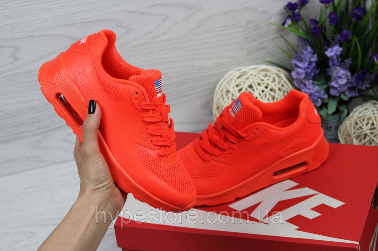 Женские кроссовки Nike Air Max 90 U.S.A (оранжевый), Реплика ... 149b268ffb5