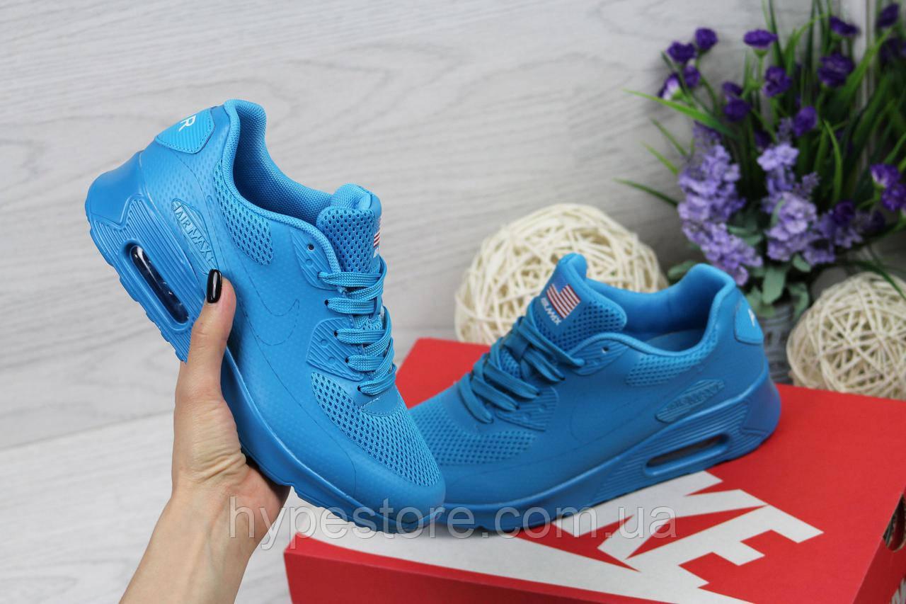 Женские кроссовки Nike Air Max 90 U.S.A (голубой), Реплика -  Интернет-магазин 5a578977190