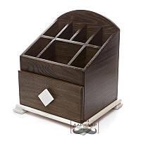 Комодик-шкатулка для косметики коричневый