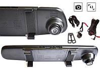 """Регистратор зеркало 4,3"""" DVR 138, видеорегистратор + камера заднего вида"""