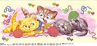 Схема для вышивки бисером Баловни (Котики с клубочками), фото 1