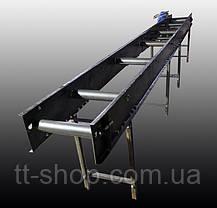 Ленточный конвейер длинной 4 м, ширина ленты 200 мм, фото 3