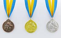 Медаль спортивная с лентой Бег