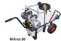 Опрыскиватель тачечный MIKRUS 50 л ( с топливным двигателем 4-такта HONDA) Krukowiak  , фото 1