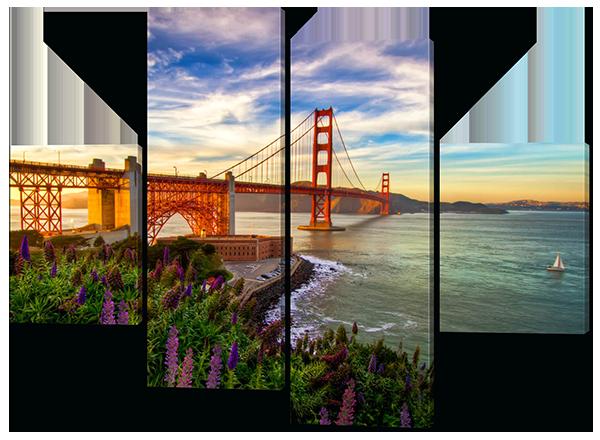 Модульная картина Мост в Сан-Франциско. США 126*93 см
