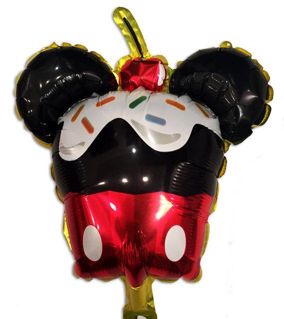 """Фольгированный шар - фигура """"Кексик Микки Маус"""" 45х34 см"""