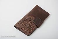 Кожаный кошелек ручной работы, качественный клатч-кошелек, фото 1
